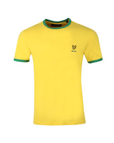 Lyle and Scott Mens Yellow S/S Brasil Country Tee