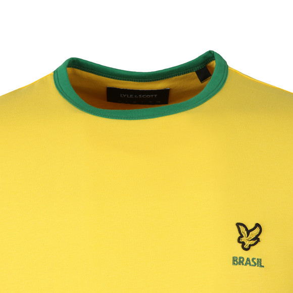 Lyle and Scott Mens Yellow S/S Brasil Country Tee main image
