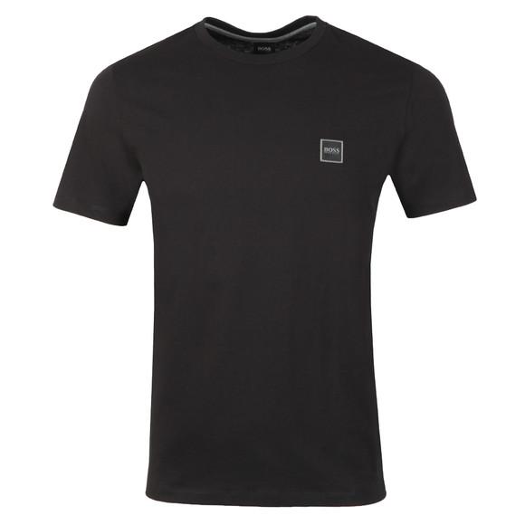BOSS Mens Black Casual Tales T Shirt