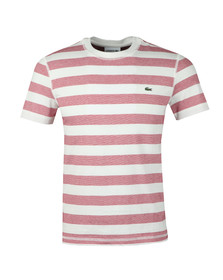 Lacoste Mens Red TH3247 Stripe Tee