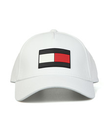 Tommy Hilfiger Mens White The Flag Cap
