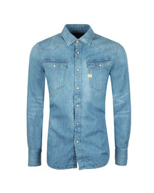 G-Star Mens Blue L/S 3301 Denim Shirt