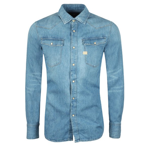 G-Star Mens Blue L/S 3301 Denim Shirt main image