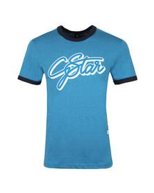 G-Star Mens Blue S/S Ringer Tee