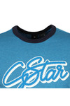 G-Star Mens Blue S/S Ringer Tee