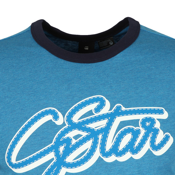 G-Star Mens Blue S/S Ringer Tee main image