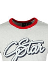 G-Star Mens White S/S Ringer Tee