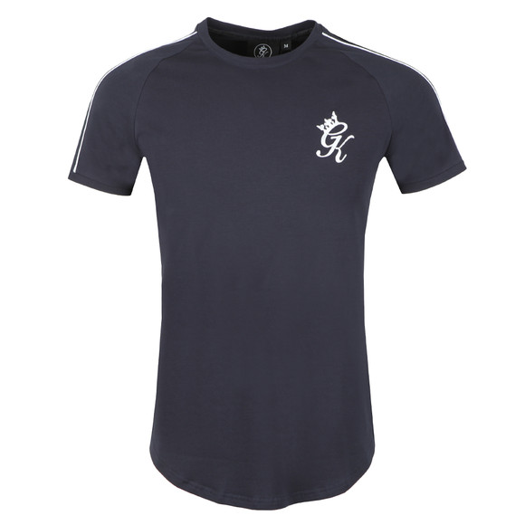 Gym King Mens Blue S/S Piped Tee main image