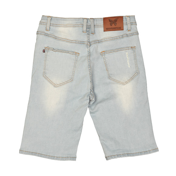 Good For Nothing Mens Blue Distressed Denim Short main image