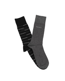 BOSS Loungewear Mens Black 2 Pack Socks