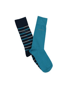 BOSS Loungewear Mens Blue 2 Pack Socks