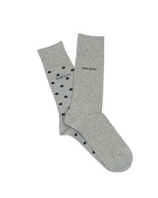 BOSS Loungewear Mens Grey 2 Pack Socks