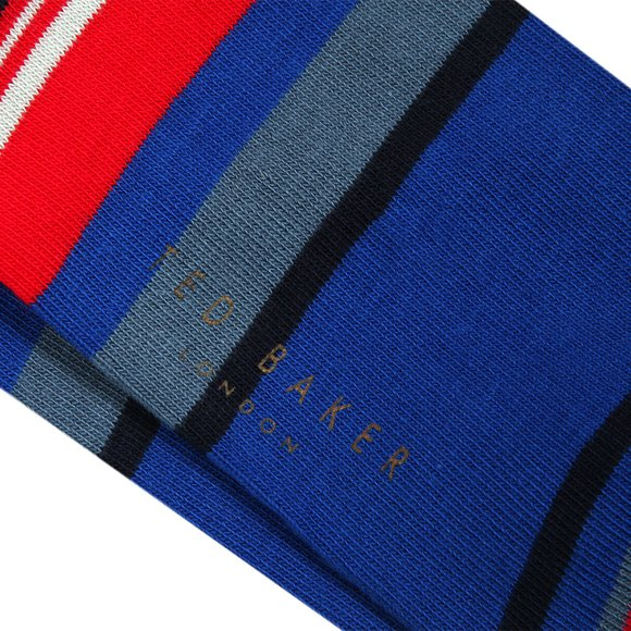 Ted Baker Mens Blue Stripe Sock main image