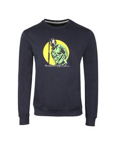 Weekend Offender Mens Blue Liam Sweat