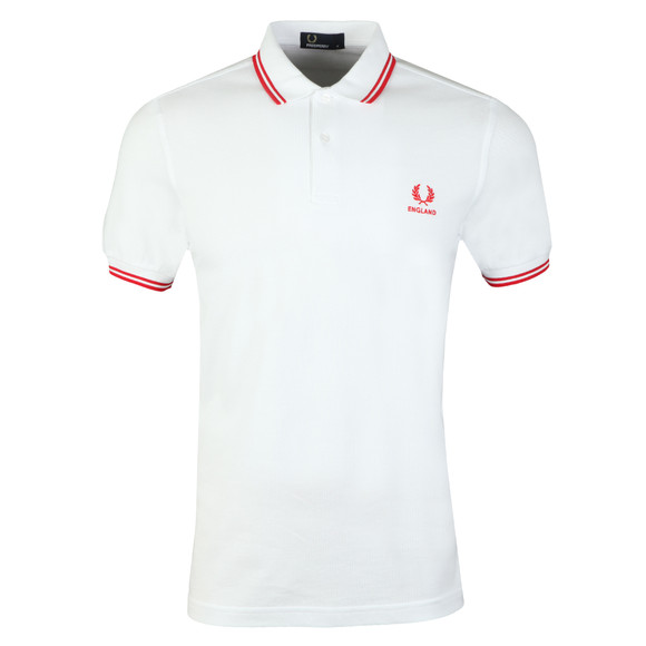 Fred Perry Mens White S/S England Country Polo main image