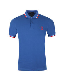 Fred Perry Mens Blue S/S Japan Country Polo