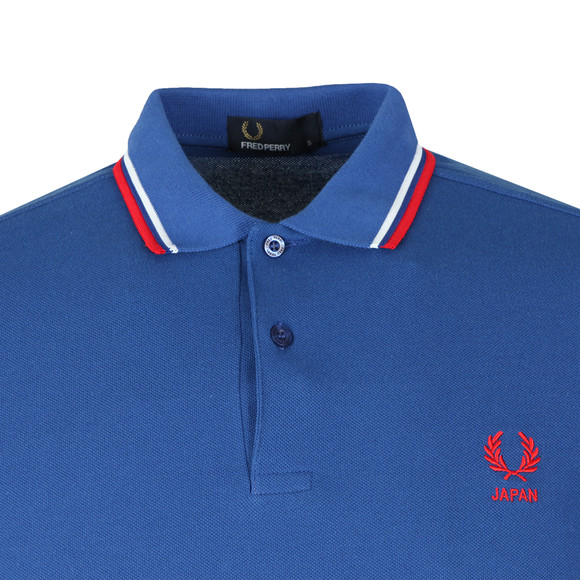 Fred Perry Mens Blue S/S Japan Country Polo main image