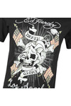 Ed Hardy Mens Black Ed Death Flag T-Shirt