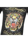 Ed Hardy Mens Black Ed Angry Tiger T-Shirt
