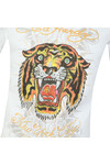Ed Hardy Mens White Ed Angry Tiger T-Shirt