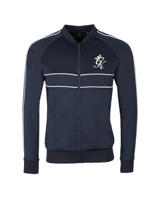 Gym King Mens Blue Piped Baseball Jacket