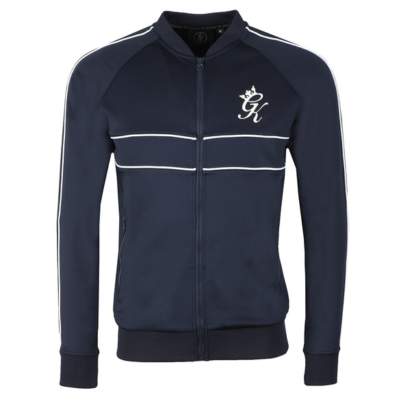 Gym King Mens Blue Piped Baseball Jacket main image