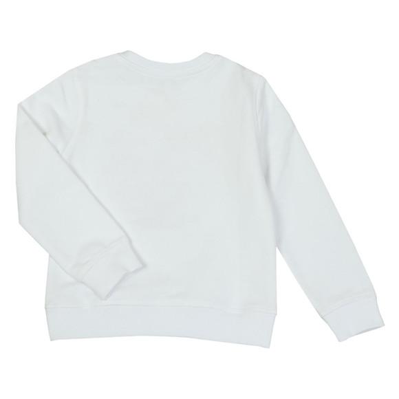Kenzo Kids Girls White Gold Tiger Sweatshirt