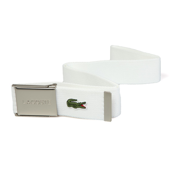 Lacoste Mens White RC2012 Fabric Belt main image