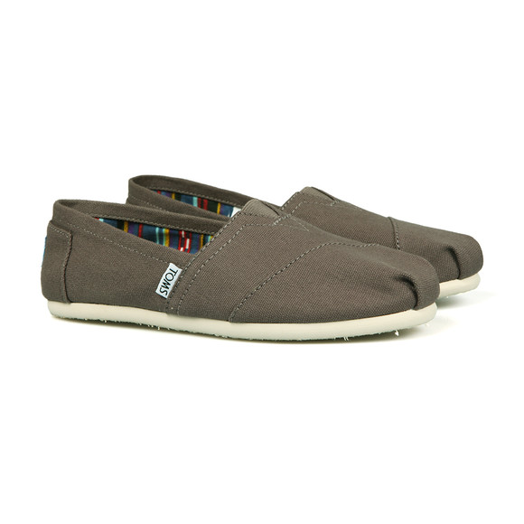 Toms Womens Grey Classic Canvas main image