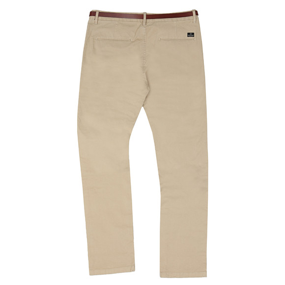 Scotch & Soda Mens Beige Slim Fit Cotton Chino