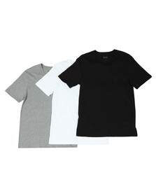 BOSS Loungewear Mens Black 3 Pack Crew Neck T Shirt