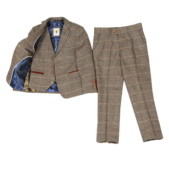 Marc Darcy Boys Brown Boys 3 Piece Suit