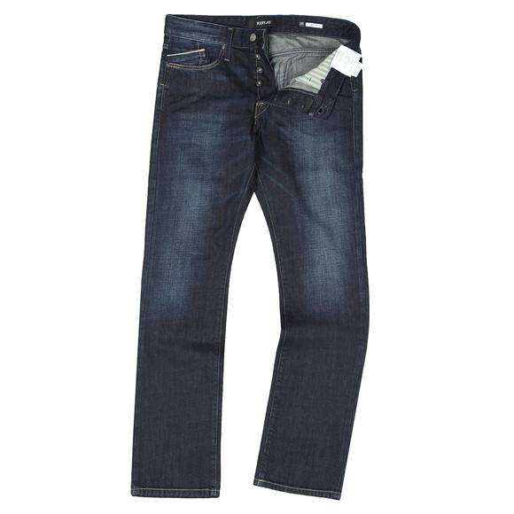 Replay Mens Blue Waitom Regular Slim Jean main image