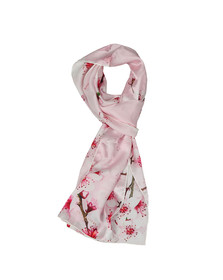 Ted Baker Womens Pink Brielle Soft Blossom Skinny Scarf