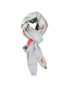 Ted Baker Womens Grey Cawper Chatsworth Bloom Split Scarf