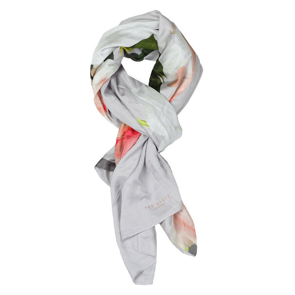 Ted Baker Womens Grey Cawper Chatsworth Bloom Split Scarf main image