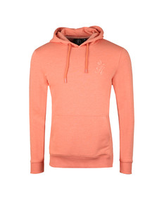 Gym King Mens Orange Over The Head Hooded Top