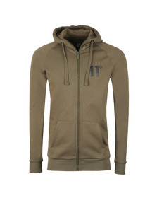 Eleven Degrees Mens Green Base Zip Hoody