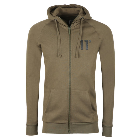 Eleven Degrees Mens Green Base Zip Hoody main image