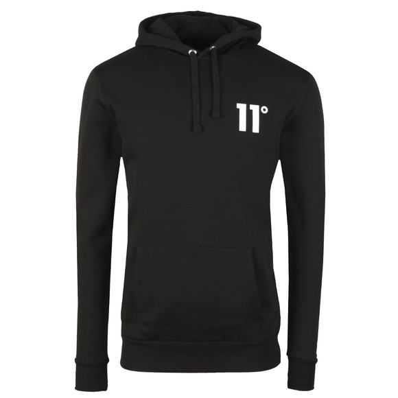 Eleven Degrees Mens Black Core Pull Over Hoody main image