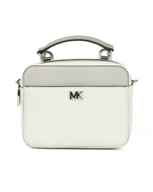 Michael Kors Womens White Mini GTR Strap Crossbody Bag