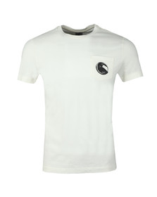 C.P. Company Mens Off-white Viewfinder Pocket T Shirt