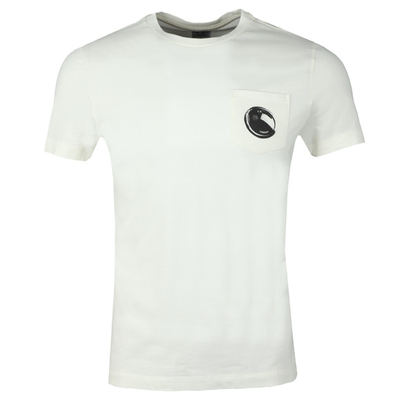 C.P. Company Mens Off-White Viewfinder Pocket T Shirt main image