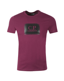 C.P. Company Mens Red Stamp Logo T Shirt