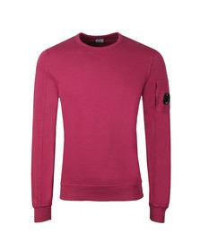 C.P. Company Mens Pink Viewfinder Sleeve Crew Sweat