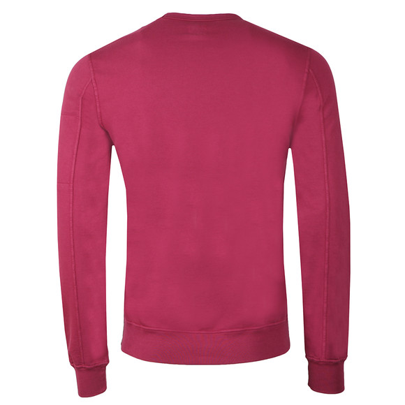 C.P. Company Mens Pink Viewfinder Sleeve Crew Sweat main image