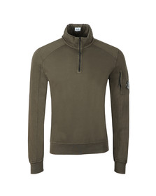 C.P. Company Mens Green Half Zip Sweat