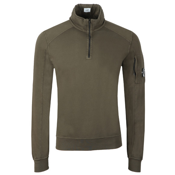 C.P. Company Mens Green Half Zip Sweat main image