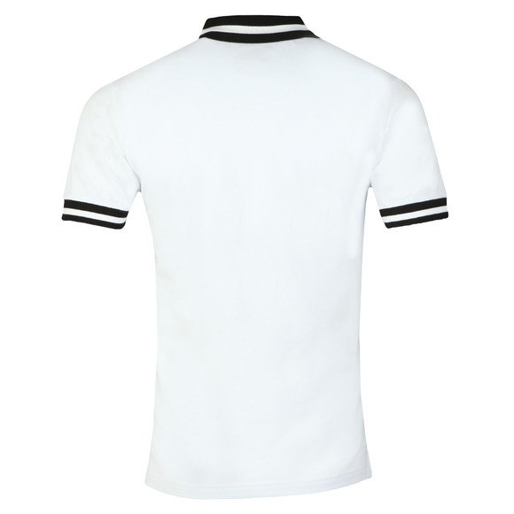 Ska and Soul Mens White S/S Chequerboard Panel Polo main image