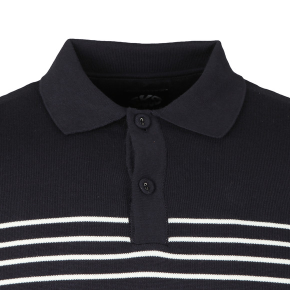 Ska & Soul Mens Blue S/S Fine Gauge Polo main image